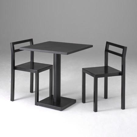 Källemo Non Pöytä Nelikulmainen Musta