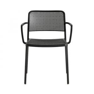 Kartell Audrey Chair With Armrest Tuoli Käsinojilla Musta