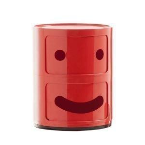 Kartell Componibili Smile Säilytyskaluste 1 Punainen 2-Osainen