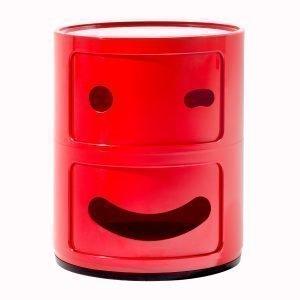 Kartell Componibili Smile Säilytyskaluste 2 Lokeroa Punainen