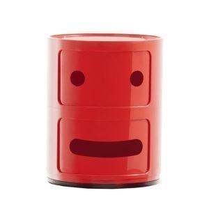 Kartell Componibili Smile Säilytyskaluste 2 Punainen 2-Osainen