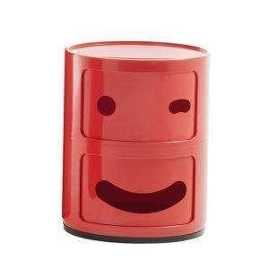 Kartell Componibili Smile Säilytyskaluste 3 Punainen 2-Osainen