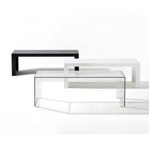 Kartell Invisible Side Pöytä Pieni Kiiltävä Valkoinen