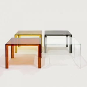 Kartell Invisible Table Pöytä Suuri Harmaa
