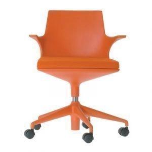 Kartell Spoon Chair Konttorituoli Oranssi
