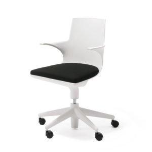 Kartell Spoon Chair Konttorituoli Valkoinen / Musta