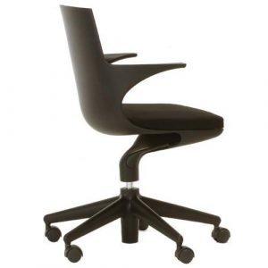 Kartell Spoon Chair Työtuoli Musta / Musta