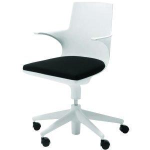 Kartell Spoon Chair Työtuoli Valkoinen / Musta