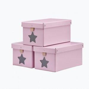 Kids Concept Kenkälaatikot 3-Pakkaus Roosa