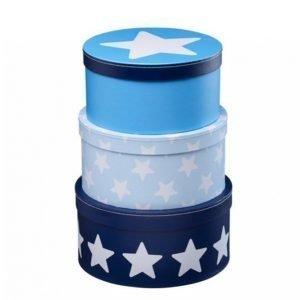 Kids Concept Star Pahvirasiat 3-Pakkaus Sininen