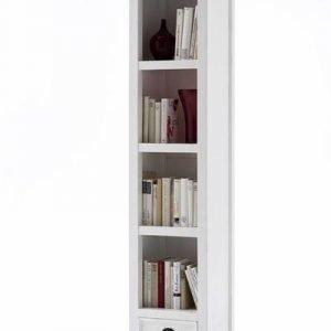 Kirjahylly Adele laatikolla valkoinen mahonki