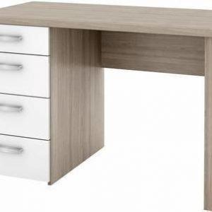 Kirjoituspöytä Aleksis 76.4x110x60.2 cm valkoinen/tammistruktuuri