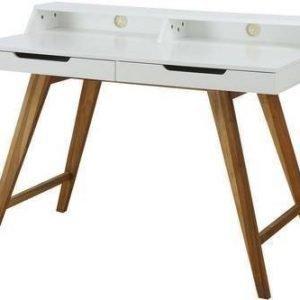 Kirjoituspöytä Olavi 110x58x85 cm valkoinen/luonnonväri