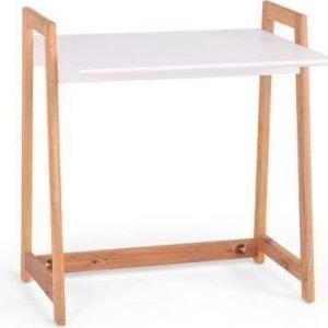 Kirjoituspöytä Vieno 80x55x86cm valkoinen/luonnonväri