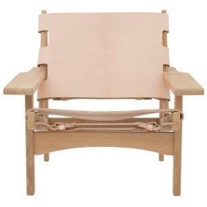 Klassik Studio Hunting Chair Nojatuoli Tammi Luonnonvärinen Nahka