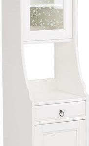 Korkeakaappi Sanna kylpyhuoneeseen 198x42x42 cm valkoinen