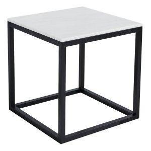 Kristina Dam The Cube Sivupöytä M Valkoinen Marmori / Musta