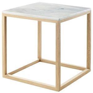 Kristina Dam The Cube Sivupöytä M Valkoinen Marmori / Tammi
