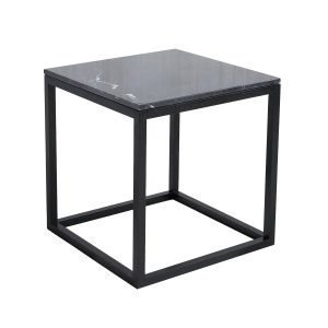 Kristina Dam The Cube Sivupöytä S Musta Marmori / Musta