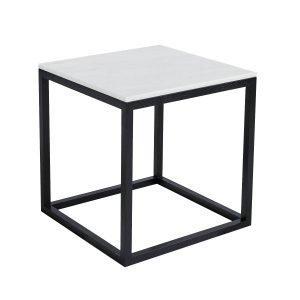 Kristina Dam The Cube Sivupöytä S Valkoinen Marmori / Musta