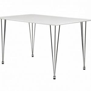 Kronberg Pöytä 120 Valkoinen Erittäin kiiltävä