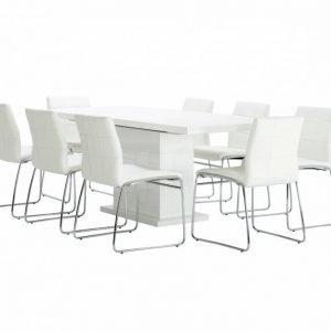Kulmbach Pöytä 160 Valkoinen + 8 Viskan Tuolia Valkoinen