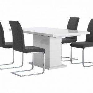 Kulmbach Pöytä 180 + 4 EmÅn Tuolia Harmaa