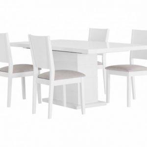 Kulmbach Pöytä 180 Valkoinen + 4 RONNEBy Tuolia Valkoinen