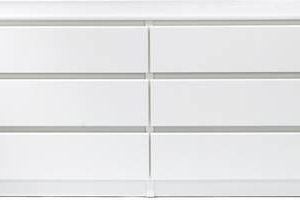 Lipasto Siiri 6 laatikolla valkoinen