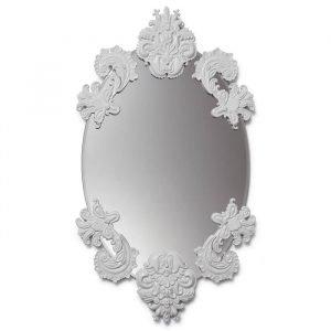 Lladro Oval Mirror Without Frame Peili Valkoinen