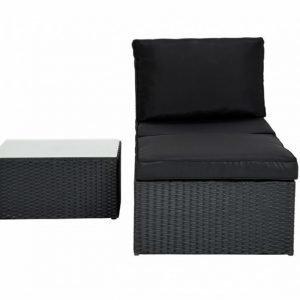 MARBElla Keskimoduuli + Rahi + Pöytä Musta/Musta