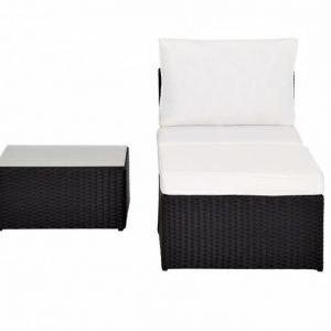 MARBElla Keskimoduuli + Rahi + Pöytä Musta/Valkoinen
