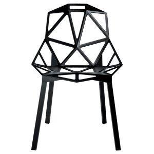 Magis Chair One Tuoli Musta Jauhemaalatut Alumiinijalat