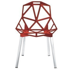Magis Chair One Tuoli Punainen Kiillotetut Alumiinijalat