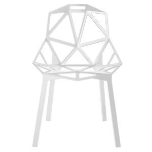 Magis Chair One Tuoli Valkoinen Jauhemaalatut Alumiinijalat