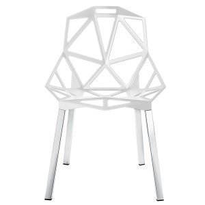 Magis Chair One Tuoli Valkoinen Kiillotetut Alumiinijalat