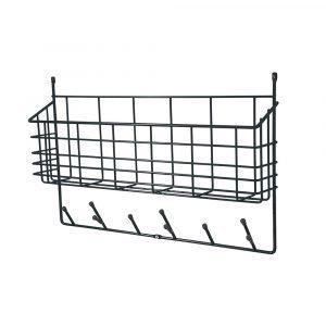 Maze Mitten Shelf Kori / Ripustin Musta