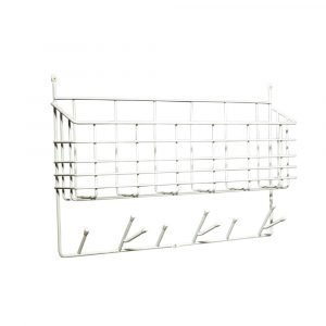 Maze Mitten Shelf Kori / Ripustin Valkoinen