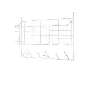 Maze Mitten Shelf Kori / Vaatekoukut Valkoinen