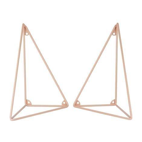Maze Pythagoras Hyllynkannatin 2 kpl Vaaleanpunainen