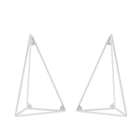 Maze Pythagoras Hyllynkannatin 2 kpl Valkoinen