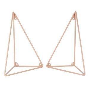 Maze Pythagoras Hyllynkannattimet Vaaleanpunainen 2 Kpl