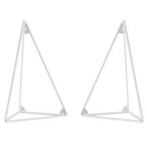 Maze Pythagoras Hyllynkannattimet Valkoinen 2 Kpl