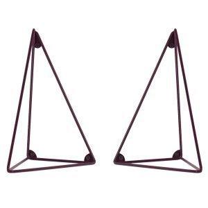 Maze Pythagoras Hyllynkannattimet Viininpunainen 2 Kpl