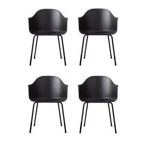 Menu Harbour Chair Tuoli Musta / Musta 4 Kpl