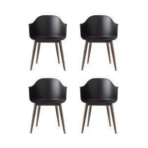 Menu Harbour Chair Tuoli Musta / Tumma Tammi 4 Kpl