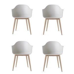 Menu Harbour Chair Tuoli Valkoinen / Tammi 4 Kpl