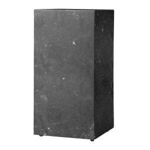 Menu Plinth Tall Pöytä Musta Marmori