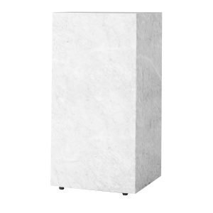 Menu Plinth Tall Pöytä Valkea Marmori
