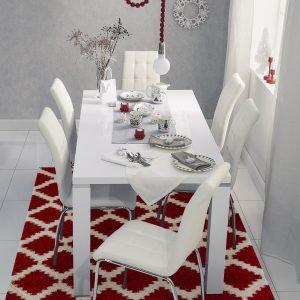 Metro Ruokapöytä Valkoinen 180 Cm + Tuolit Valkoinen 6 Kpl